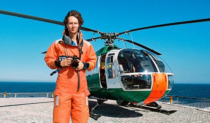 Christoph Edelhoff, Portrait auf der Forschungsplattform Fino 1, Nordsee